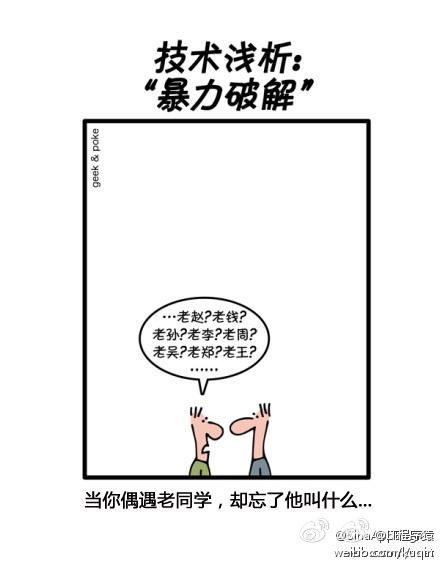 漫画:一张图解释暴力破解