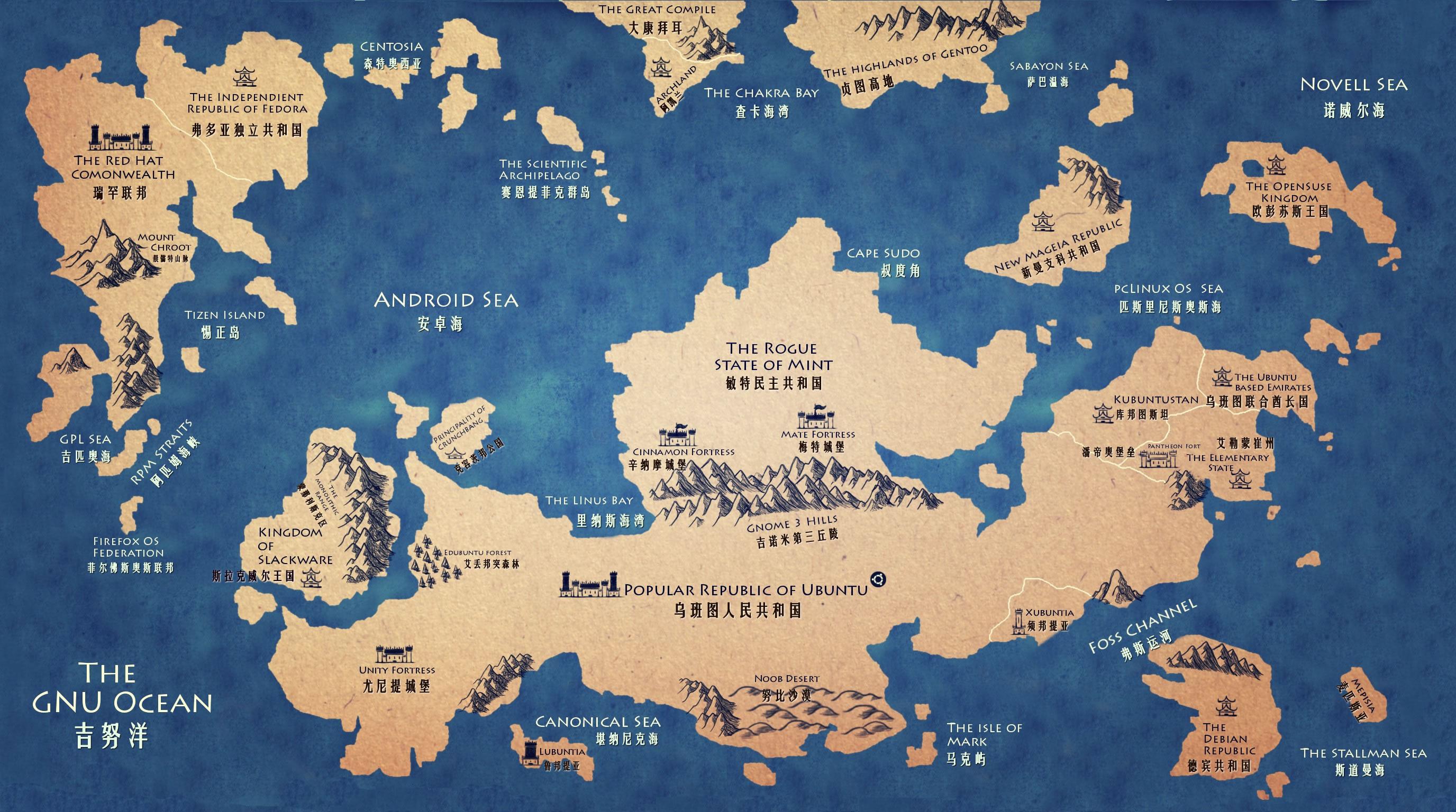 漫画:开源世界地图