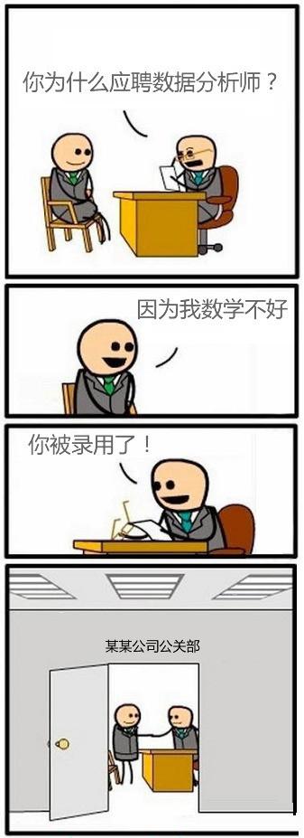 漫画:你为什么应聘数据分析师?