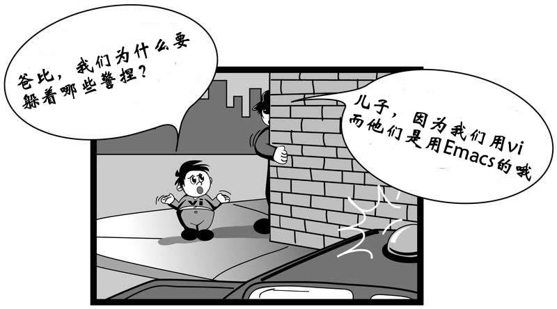 漫画:当Vi党遇到Emacs党