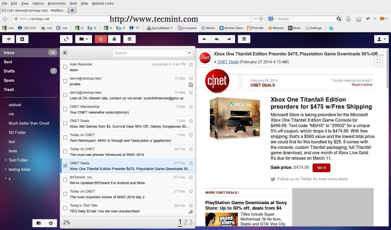 在Arch Linux上安裝RainLoop