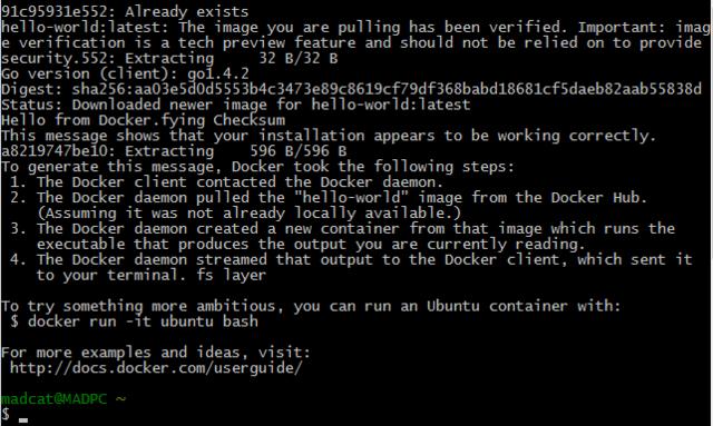 开源应用!Windows中运行Docker客户端