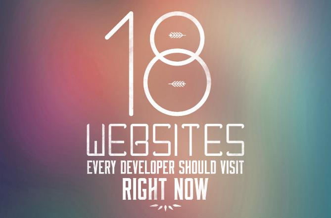 18 Websites for Devleopers