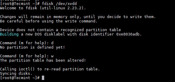 删除 Linux 分区