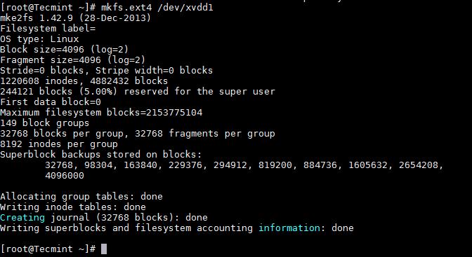 格式化 Linux 分区