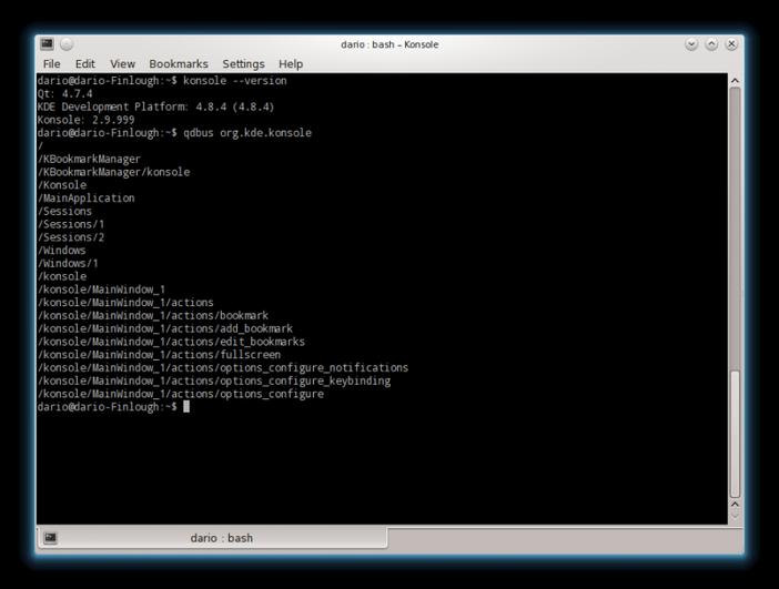 konsole linux terminal