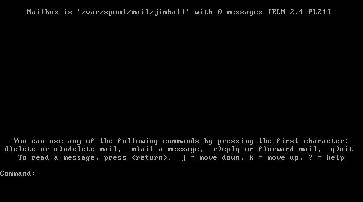 Elm mail reader