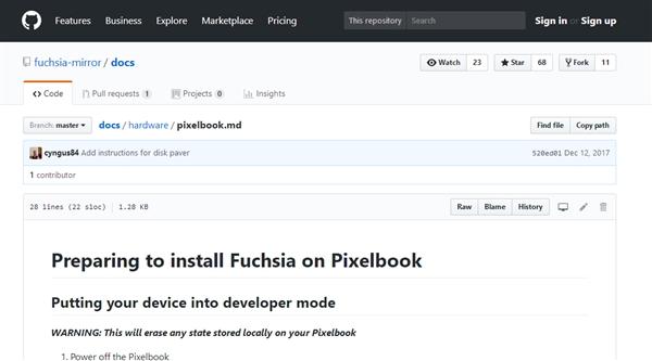 取代Win/Mac/Linux!谷歌Fuchsia OS基于Intel笔记本测试