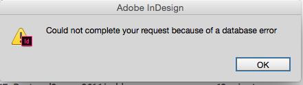 图:InDesign 的报错。