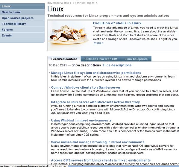 IBM: Linux 程序员和系统管理员用到的技术