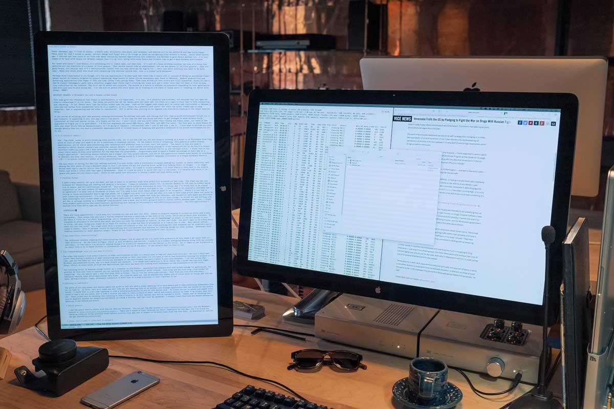 我的桌面布局, Emacs 在左边