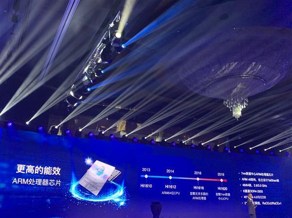 7nm 64核心!华为首次公开ARM服务器芯片:自主架构