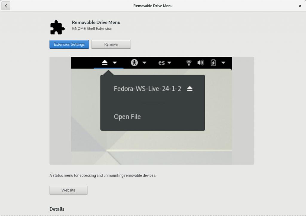 软件应用中的 Removable Drive Menu