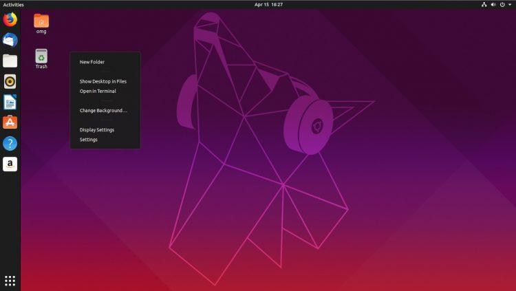 Ubuntu 19.04桌面截图