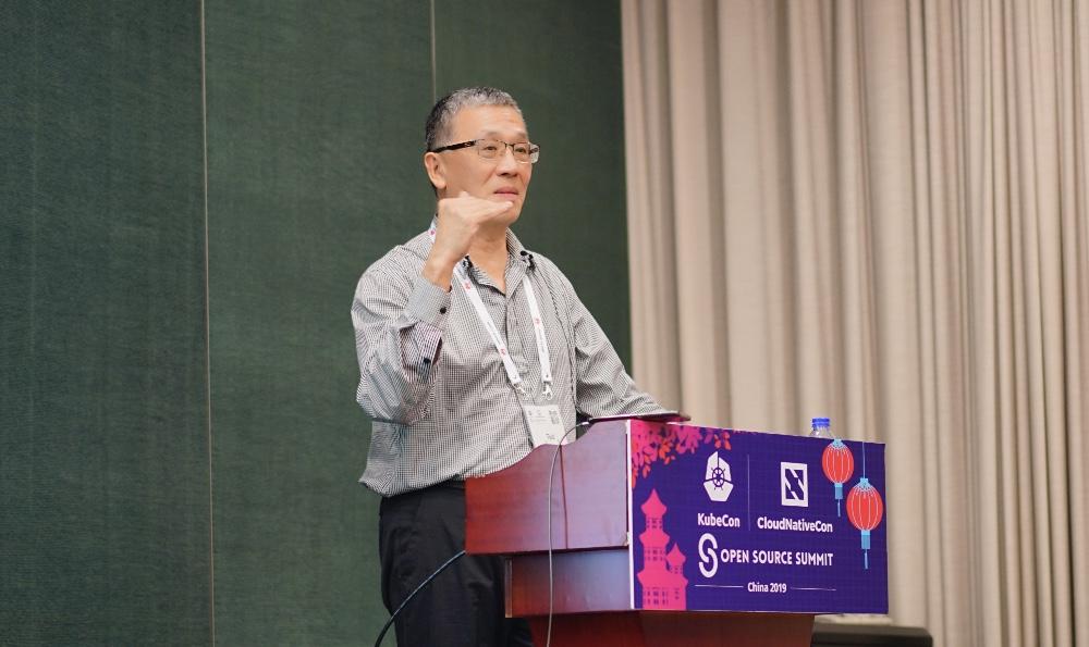 开源社 Ted Liu 在发表演讲