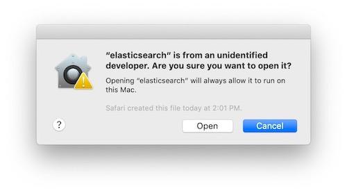 Security confirmation dialog box.