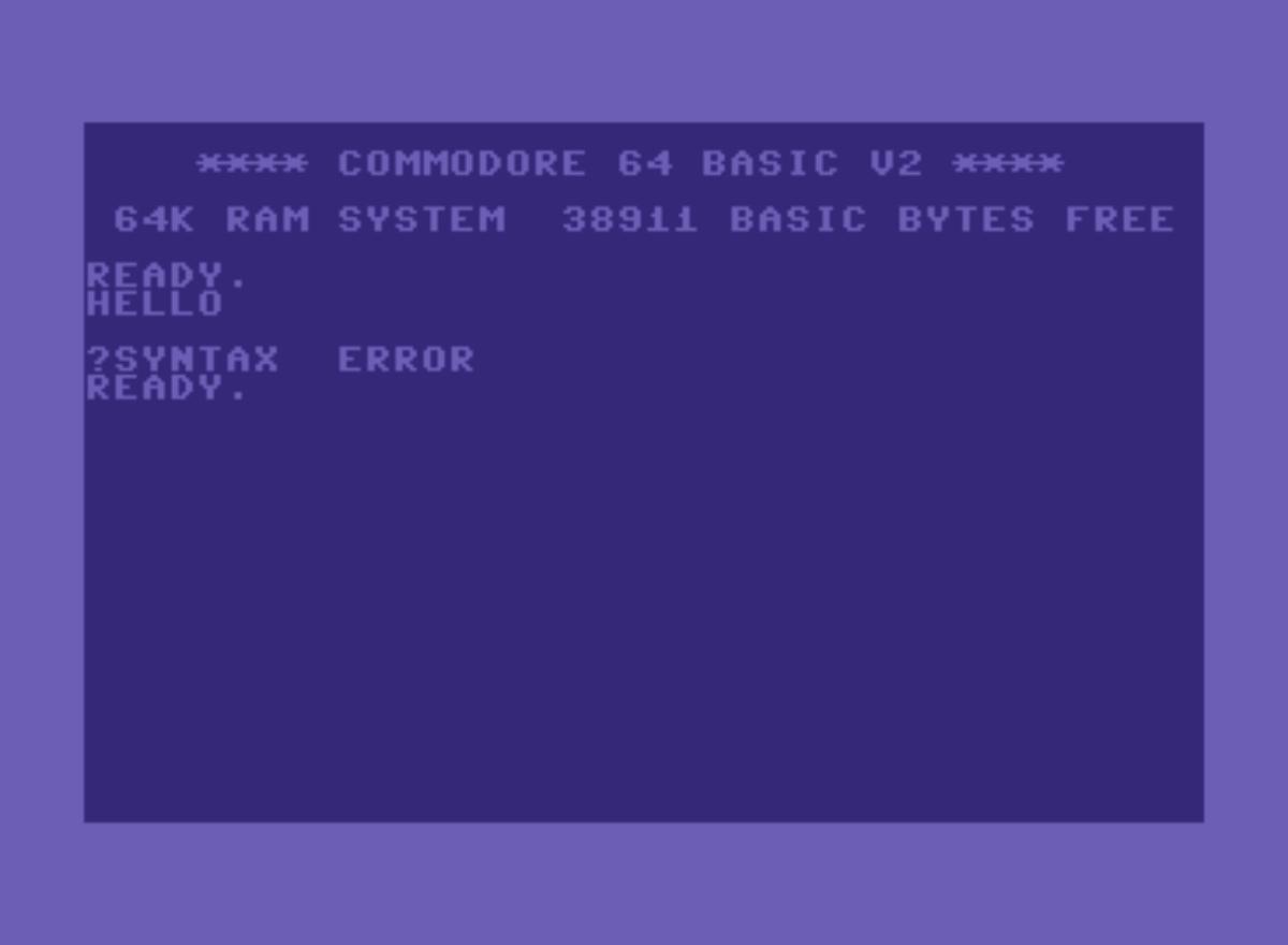 Commodore 64 语法错误