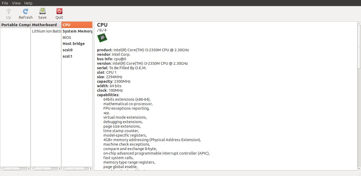 使用 lshw-gtk GUI 在 Linux 上查找硬件