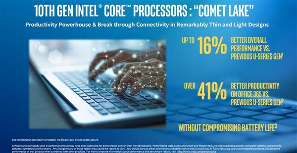 轻薄本冲上6核!Intel十代酷睿扩军:性能提升最多41%