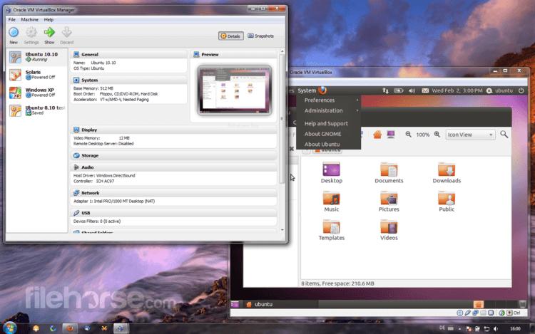VirtualBox 6.0.12 Build 133076 Screenshot 1