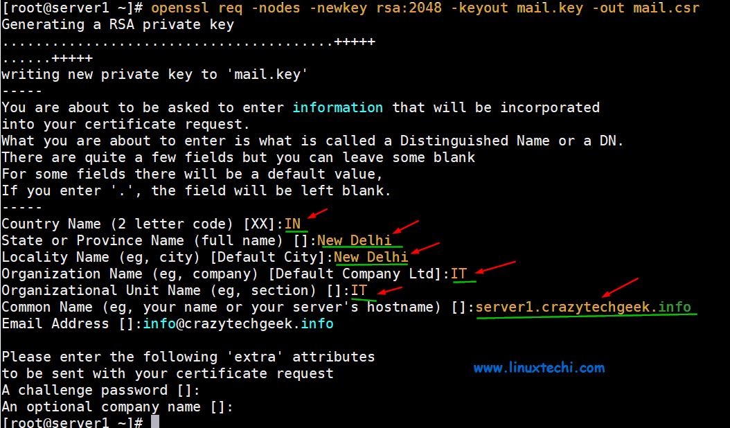 Postfix-Key-CSR-CentOS8