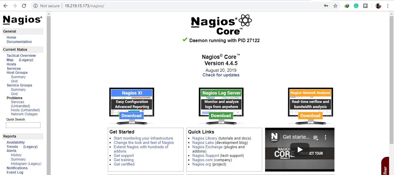 Nagios-dashboard-CentOS8