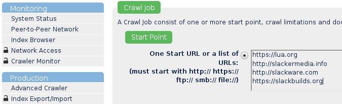 YaCy advanced crawler