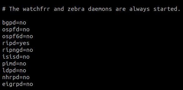 FRR daemon restart