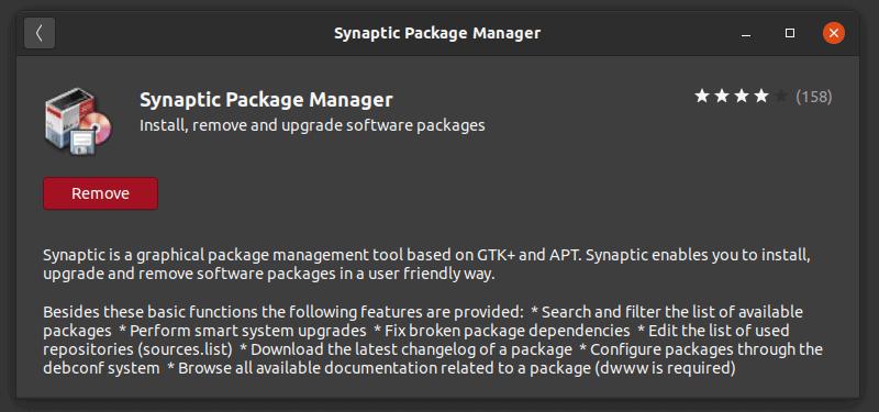 Synaptic 在 Ubuntu 软件中心