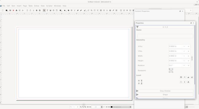 Empty Scribus document