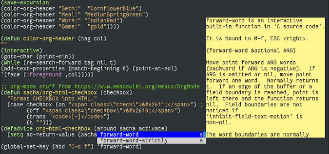 Emacs function