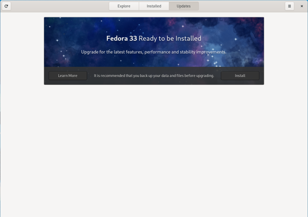 Fedora 33 is ready for installation