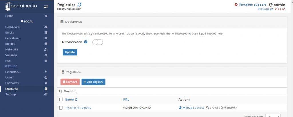 Registry2-Portainer-GUI