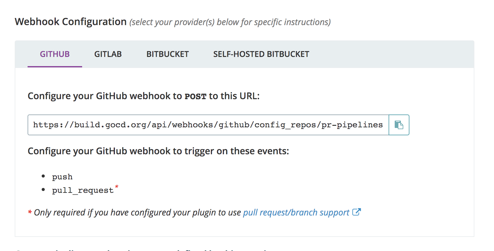 Config Repositories with webhook