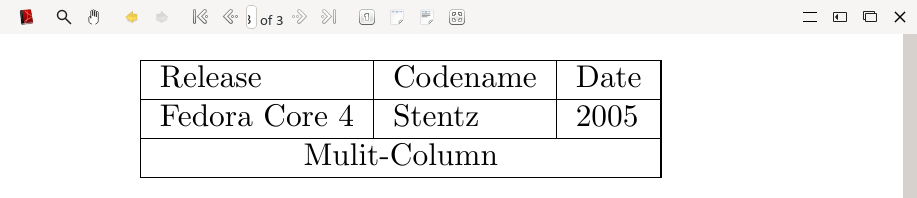 Multi-Column