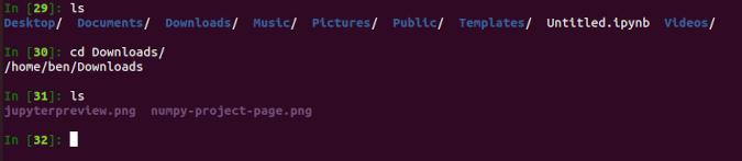 IPython shell commands