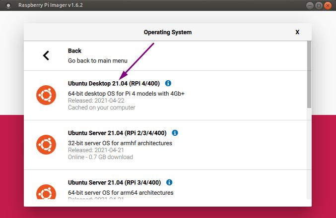 镜像工具:发行版 - Ubuntu 21.04