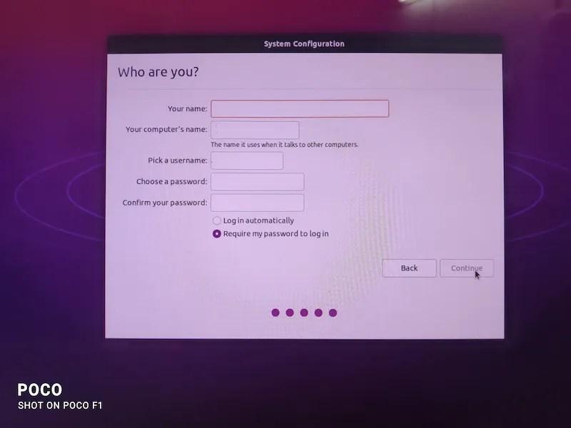 输入所需的用户名和密码