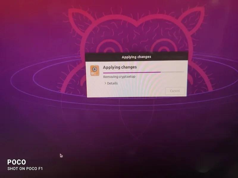 完成 Ubuntu 设置