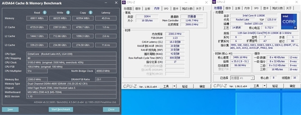 DDR5性能首曝:6400MHz读取带宽破90GBs、延迟超高